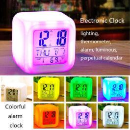 Reloj despetador 7 colores led con termómetro digital